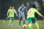 Mizuho Sakaguchi (Beleza), <br /> SEPTEMBER 17, 2017 - Football / Soccer : <br /> 2017 Plenus Nadeshiko League Division 1 match <br /> between JEF United Ichihara Chiba Ladies 0-1 NTV Beleza <br /> at Frontier Soccer Field in Chiba, Japan. <br /> (Photo by AFLO SPORT)