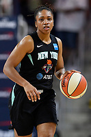 Washington, DC - August 25, 2019: New York Liberty guard Tanisha Wright (30) brings the ball up court during first half action of game between the New York Liberty and the Washington Mystics at the Entertainment and Sports Arena in Washington, DC. The Mystics defeated New York 101-72. (Photo by Phil Peters/Media Images International)