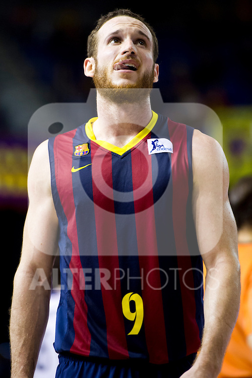 FC Barcelona's Marcelinho Huertas gestures during Liga Endesa ACB 2013-2014 match against Gipuzkoa Basket Club. November 3, 2013. (ALTERPHOTOS/Alex Caparros)