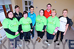 Taking part in the Operation Transformation fundraiser for Console charity are l-r: Karen Lonergan (Rahoonane, Tralee) Tracey Nelligan (Rahoonane, Tralee) Aisling Powell (Rahoonane, Tralee) and Regina O'Connor (Cois Coille, Tralee) pictured with their trainers at back: Janet Slye (Manor West) Caitriona Cantillon (Manor West) John Enright (Banna Leisure Centre) Siobhan Sentry (Advanced Fitness Education).