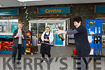 Josephine Foley pops the champagne with Rosarie Clifford left and Ciara McGillicuddy to celebrate Sheehans Centra selling another €500,000 Euro lotto winner on Wednesday