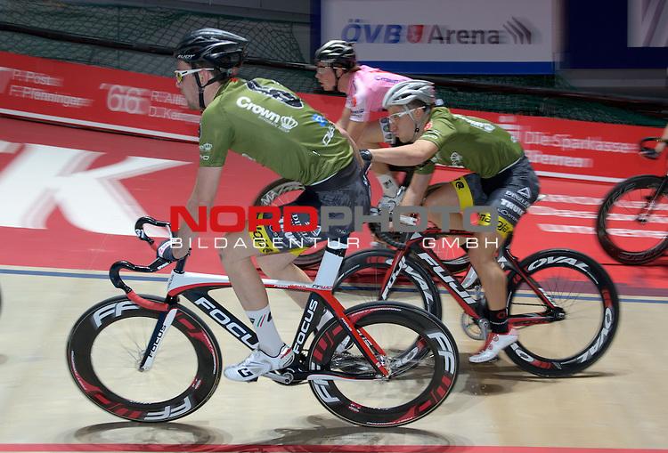 12.01.2015, &Ouml;VB Arena, Bremen, GER, Sixdays Bremen, im Bild Johannes Meier / Martin Reinert<br /> <br /> Foto &copy; nordphoto / Frisch