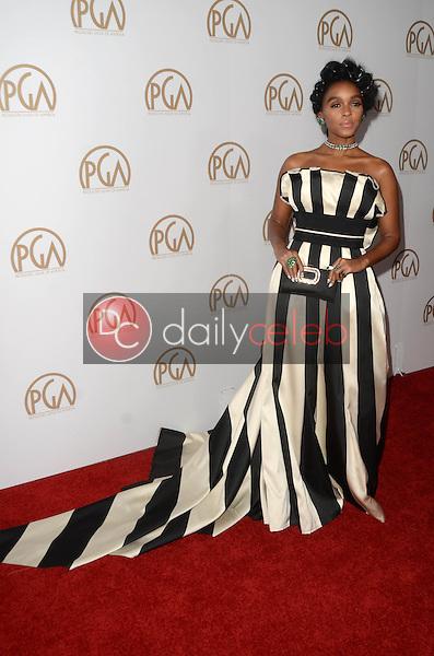 Janelle Monae<br /> at the 2017 Producers Guild Awards, Beverly Hilton Hotel, Beverly Hills, CA 01-28-17<br /> David Edwards/DailyCeleb.com 818-249-4998