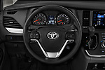 Car pictures of steering wheel view of a 2017 Toyota Sienna LE 5 Door Mini Van