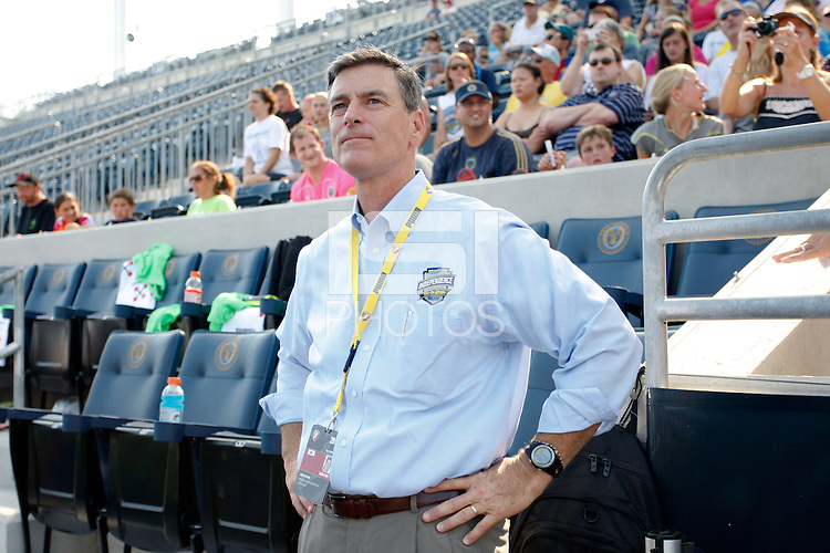 Philadelphia Independence owner David Halstead. The Philadelphia Independence defeated magicJack SC 2-0 during the Women's Professional Soccer (WPS) Super Semifinal at PPL Park in Chester, PA, on August 20, 2011.