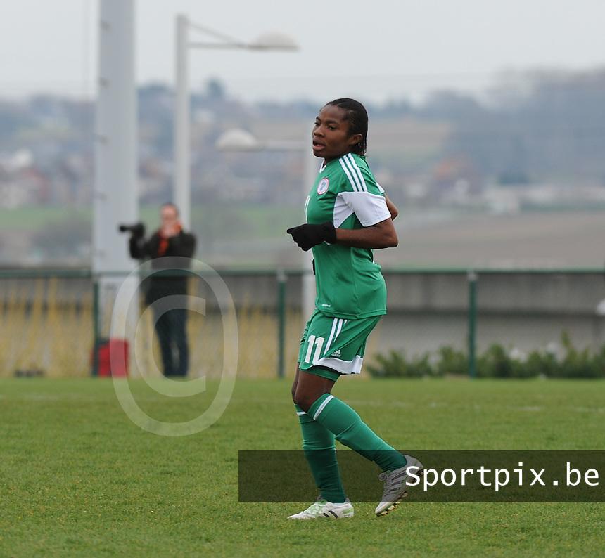 U17 Belgian Red Flames - Nigeria :<br /> <br /> Alex Faith Obidiya<br /> <br /> foto Dirk Vuylsteke / Nikonpro.be