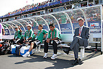 02 July 2007: Mexico head coach Jesus Ramirez (r) with his bench staff. At the National Soccer Stadium, also known as BMO Field, in Toronto, Ontario, Canada. Mexico's Under-20 Men's National Team defeated Gambia's Under-20 Men's National Team 3-0 in a Group C opening round match during the FIFA U-20 World Cup Canada 2007 tournament.