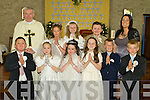 Pupils from Ballyduff NS who made their First Holy Communion on Saturday in the church of St Peter and Paul, Ballyduff were Dylan Browne, Niamh Burke, Sophie Flynn, Jasmine Griffin, Eric Kennelly, Donal Lynch, Katelyn O'Connor, Niamh Walsh and Gearoid O'Neill with teacher Nora Falvey and Fr Brendan Walsh.