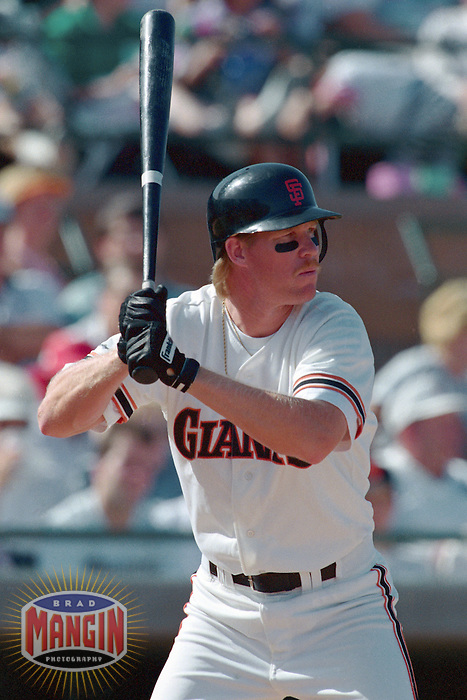 SCOTTSDALE, AZ - Cory Snyder of the San Francisco Giants bats during a spring training game at Scottsdale Stadium in Scottsdale, Arizona in 1992. Photo by Brad Mangin