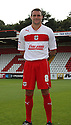James Dunne of Stevenage. Stevenage FC photoshoot -  Lamex Stadium, Stevenage . - 16th August, 2012. © Kevin Coleman 2012
