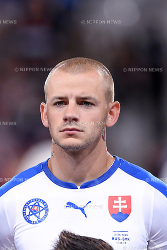 Vladimir Weiss (Slovakia) ; <br /> June 15, 2016 - Football : Uefa Euro France 2016, Group B, Russia 1-2 Slovakia at Stade Pierre Mauroy, Lille Metropole, France. (Photo by aicfoto/AFLO)