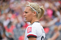 OTTAWA, Canada - Sunday June 7, 2015: Germany defeats the Ivory Coast 10-0 in their first match of Group B at the Women's World Cup Canada 2015 at Lansdowne Stadium in Ottawa, Ontario, Canada.