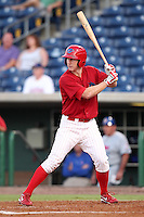 Clearwater Threshers Brian Gump #24 at bat during a game against the Daytona Cubs at Brighthouse Stadium on June 23, 2011 in Clearwater, Florida.  Clearwater defeated Daytona 6-5.  (Mike Janes/Four Seam Images)