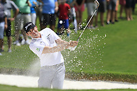 Keegan Bradley (USA) chips from a bunker at the 1st green during Saturday's Round 3 of the 2017 PGA Championship held at Quail Hollow Golf Club, Charlotte, North Carolina, USA. 12th August 2017.<br /> Picture: Eoin Clarke | Golffile<br /> <br /> <br /> All photos usage must carry mandatory copyright credit (&copy; Golffile | Eoin Clarke)
