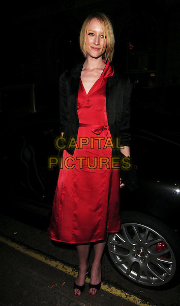 JADE PARFITT.Diesel - store launch party, Diesel, 130 New Bond Street, London, UK..May 18th, 2006.Ref: CAN.full length red dress black jacket.www.capitalpictures.com.sales@capitalpictures.com.© Capital Pictures.