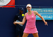 June 14th 2017, The Northern Lawn tennis Club, Manchester, England; ITF Womens tennis tournament; Naomi Broady (GBR) in action during her first round singles match against Ankita Raina (IND); Broadie won in straight sets