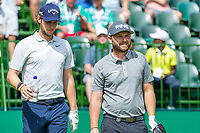 Thomas Pieters (BEL) and Andy Sullivan (ENG) during the first round at the Nedbank Golf Challenge hosted by Gary Player,  Gary Player country Club, Sun City, Rustenburg, South Africa. 14/11/2019 <br /> Picture: Golffile | Tyrone Winfield<br /> <br /> <br /> All photo usage must carry mandatory copyright credit (© Golffile | Tyrone Winfield)