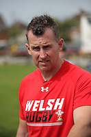 Pictured: Referee Nigel Owens in Cardiff, Wales, UK. Wednesday 24 August 2016<br />