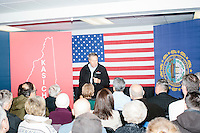 Ohio governor and Republican presidential candidate John Kasich speaks at a town hall campaign event at Raymond VFW Post 4479 in Raymond, New Hampshire, on Wed., Feb. 3, 2016.