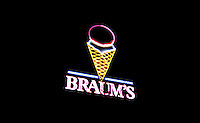 The Braum's ice cream store signage in Dumas, Texas, Tuesday, February 15, 2011. ..Photo by Matt Nager