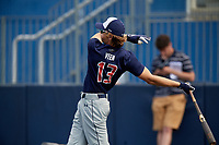 Zac Veen (13) during the Under Armour All-America Game Practice, powered by Baseball Factory, on July 21, 2019 at Les Miller Field in Chicago, Illinois.  Zac Veen attends Spruce Creek High School in Port Orange, Florida and is committed to the University of Florida.  (Mike Janes/Four Seam Images)