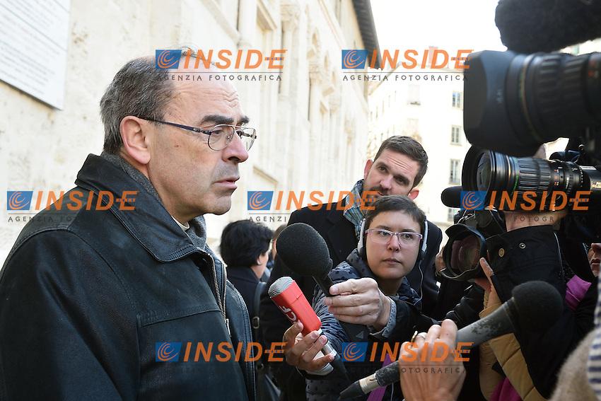 Il Cardinale Philippe Barbarin  <br /> 14-11-2015 Lione <br /> Foto Frederic Chambert / Panoramic / Insidefoto