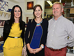 Ann Gormam, Melanie and Nigel Spendlove pictured at the ist anniversary celebrations of the Local Heroes craft shop in Slane. Photo:Colin Bell/pressphotos.ie