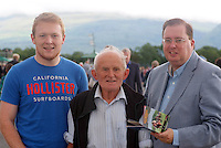 XXjob: Gavin Nolan, Michael Cronin, Fossa and Thomas McEllistrim, Tralee pictured at Killarney Races on Tuesday night.<br /> Picture by Don MacMonagle