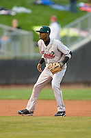 Shortstop Devaris Gordon #5 of the Great Lakes Loons on defense versus the Dayton Dragons at Fifth Third Field April 21, 2009 in Dayton, Ohio. (Photo by Brian Westerholt / Four Seam Images)