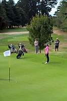Fiona Xu on the 16th green. Day two of the Jennian Homes Charles Tour / Brian Green Property Group New Zealand Super 6s at Manawatu Golf Club in Palmerston North, New Zealand on Friday, 6 March 2020. Photo: Dave Lintott / lintottphoto.co.nz