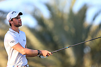 Thomas Detry (BEL) on the 14th tee during the 2nd round of the Abu Dhabi HSBC Championship, Abu Dhabi Golf Club, Abu Dhabi,  United Arab Emirates. 17/01/2020<br /> Picture: Fran Caffrey   Golffile<br /> <br /> <br /> All photo usage must carry mandatory copyright credit (© Golffile   Fran Caffrey)
