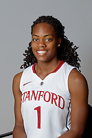 Lili Thompson with Stanford Women's basketball team. Photo taken on Wednesday, October 2, 2013