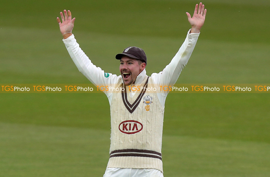Rory Burns of Surrey appeals in vain for a wicket during Surrey CCC vs Essex CCC, Specsavers County Championship Division 1 Cricket at the Kia Oval on 13th April 2019