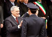 NAPOLI 28/03/2013 908 ANNIVERSARIO DELLA'ACCADEMIA AERONAUTICA .NELLA FOTO  PIETRO GRASSO.FOTO CIRO DE LUCA..