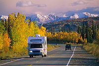 RV on the George Parks, Highway, near Healy, Alaska