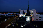 A view of the twin spires at Churchill Downs during the early morning hours in Louisville, Kentucky on May 6, 2006.  Barbaro, ridden by Edgar Prado, won the 132nd Kentucky Derby in the tenth race of the day........