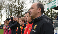 20170314 - UDEN , NETHERLANDS : Belgian coach Bob Browaeys (R) pictured during the UEFA Under 17 Elite round game between The Netherlands U17 and Belgium U17, on the first matchday in group 5 of the Uefa Under 17 elite round in The Netherlands , tuesday 14 th March 2017 . PHOTO SPORTPIX.BE | DIRK VUYLSTEKE