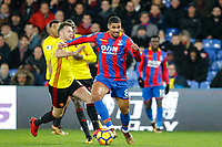 Ruben Loftus-Cheek of Crystal Palace holds off Tom Cleverley of Watford during the EPL - Premier League match between Crystal Palace and Watford at Selhurst Park, London, England on 12 December 2017. Photo by Carlton Myrie / PRiME Media Images.
