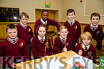 At the Credit Union Primary schools  Table Quiz in Brandon Hotel on Sunday were James Charles, Sive McMahon, Ben O'Brien, Louis Tobin Monaghan Back L-r Killian Lynch, Daniel OSayanrhion, Alan O'Connor and Josh Quilter from Holy Family