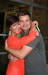 "Colleen Zenk ""Barbara Ryan"" & Daniel Cosgrove ""Chris Hughes"" - As The World Turns' shoots its last show on June 23, 2010 at the studios in Brooklyn, New York. (Photo by Sue Coflin/Max Photos)"