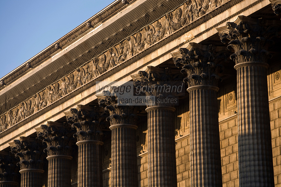 Europe/France/Ile-de-France/75008 /Paris : La Madeleine - Eglise Sainte-Marie-Madeleine -Colonnes corinthiennes