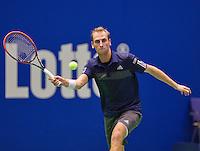 December 21, 2014, Rotterdam, Topsport Centrum, Lotto NK Tennis, Men's Final,  Thiemo de Bakker (NED)<br /> Photo: Tennisimages/Henk Koster