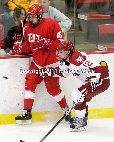 Greg Miller (Cornell - 16), Colin Moore (Harvard - 12) - The visiting Cornell University Big Red defeated the Harvard University Crimson 2-1 on Saturday, January 29, 2011, at Bright Hockey Center in Cambridge, Massachusetts.