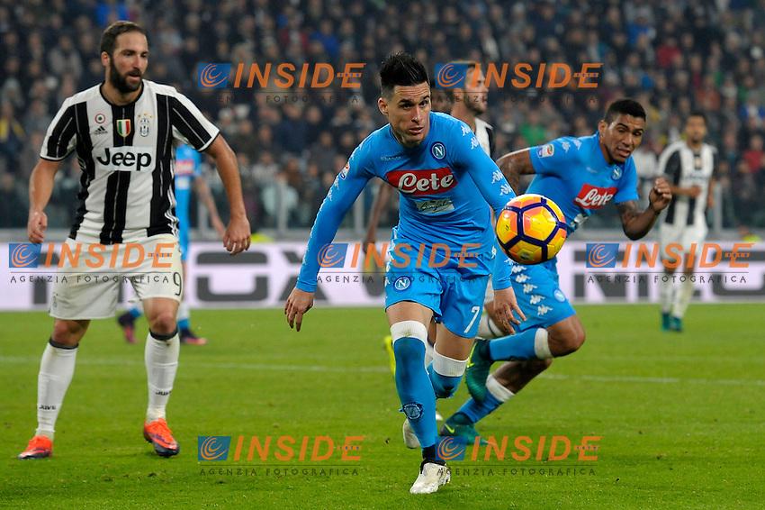 Gonzalo Higuain, Jose MAria Callejon <br /> Torino 29-10-2016 Juventus Stadium Football Calcio Serie A 2016/2017 Juventus - Napoli . Foto Filippo Alfero Insidefoto