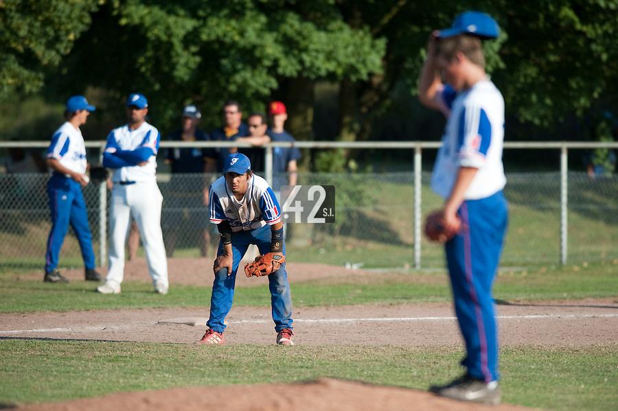 Baseball - 2009 European Championship Juniors (under 18 years old) - Bonn (Germany) - 06/08/2009 - Day 4 - Thomas Medina (France)
