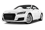 Stock pictures of low aggressive front three quarter view of 2015 Audi TT Coupe S Line 3 Door Coupe Low Aggressive