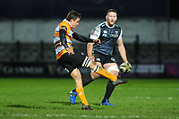 William Small-Smith of Cheetahs in action during the Guinness Pro 14 Round 7 match between Ospreys and Cheetahs at The Gnoll in Neath, Wales, UK. Saturday 30 November 2019