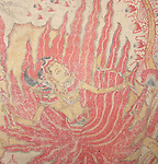 Balinese Ramayana painting on Cloth, late 19th century. 160 x 130cm