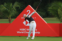 Hyejin Choi (KOR) in action on the 2nd during Round 2 of the HSBC Womens Champions 2018 at Sentosa Golf Club on the Friday 2nd March 2018.<br /> Picture:  Thos Caffrey / www.golffile.ie<br /> <br /> All photo usage must carry mandatory copyright credit (&copy; Golffile | Thos Caffrey)