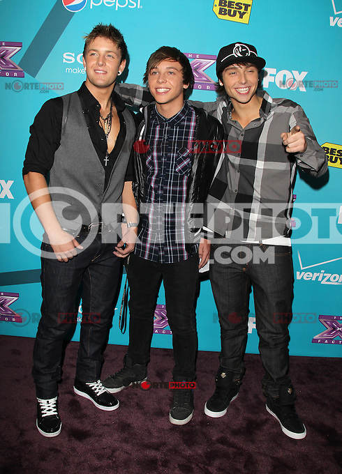 LOS ANGELES, CA - NOVEMBER 05: Emblem3 at the FOX's 'The X Factor' Finalists Party at The Bazaar at the SLS Hotel Beverly Hills on November 5, 2012 in Los Angeles, California. Credit: mpi26/MediaPunch Inc. .<br /> &copy;NortePhoto